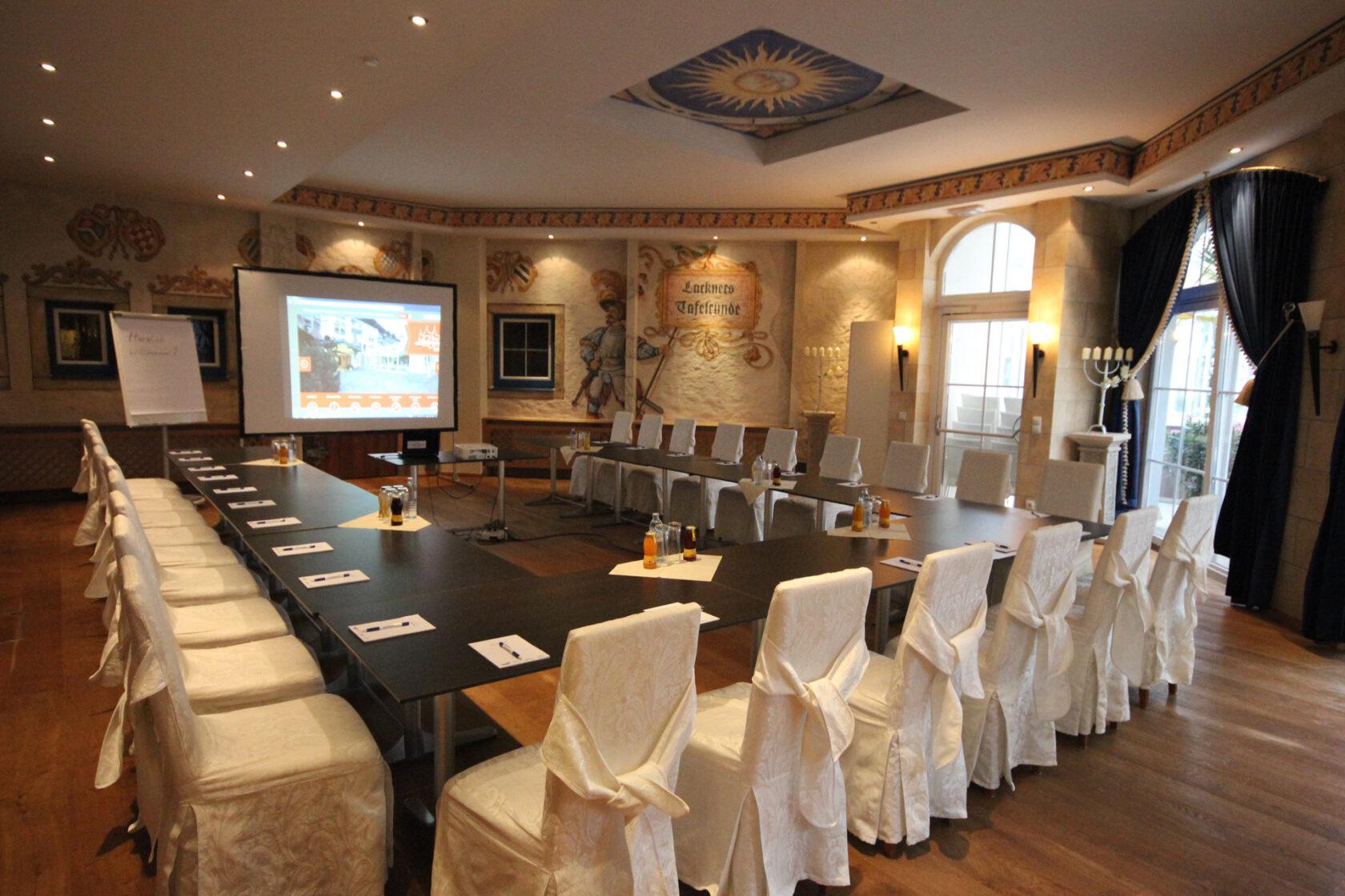 Seminarraum Rittersaal in U-Form
